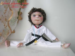 скульптурно-текстильная кукла, чулочная техника