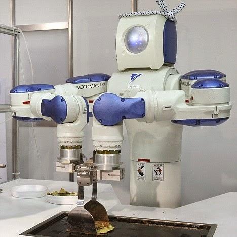 Robot MotoMan si Ahli Masak