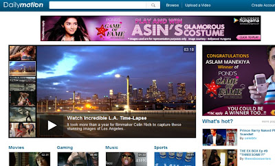 Dailymotion homepage