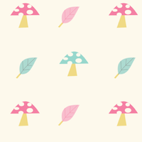 pastel mushroom pattern
