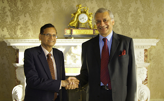 Secretary-General-of-the-Commonwealth-Kamalesh-Sharma-meets-Prof-GL-Peiris -Sri Lanka