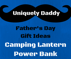 Camping, Survival, Charger, Outdoors, Gift, Gift Idea, Fathers Day, Father, Daddy, Dad, Man, Husband, Manly, Survivalist, Hiker, Fisherman, Camper, Lantern, Camping Lantern, Battery Powered, Rechargeable, Portable, Compact, Lightweight