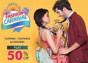 Snapdeal Fashion Carnival: Flat 50% Off or more on Clothing | Footwear | Accessories + Extra 5% Off