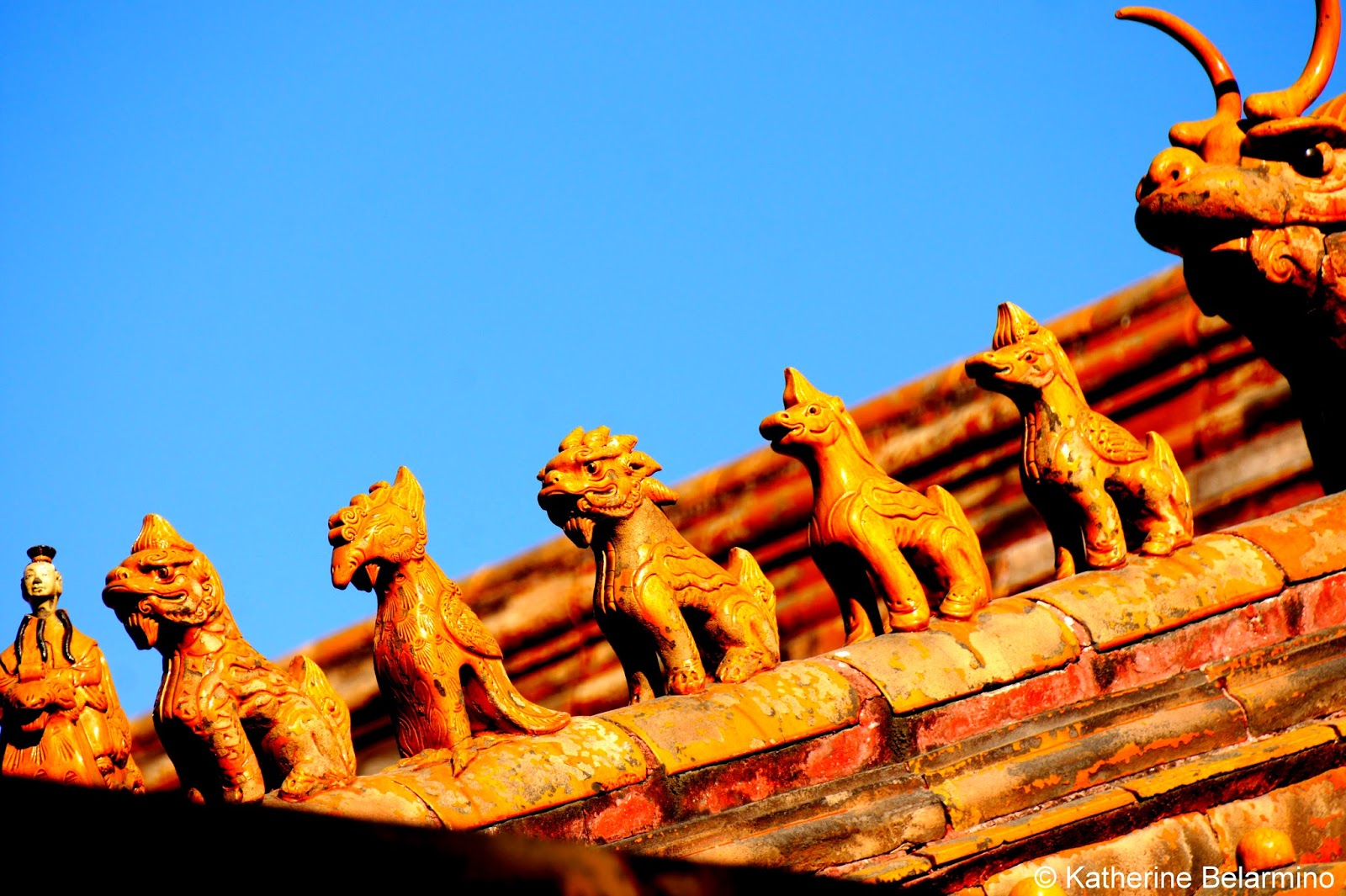 Roof Guardians Western Palaces Forbidden City Beijing China