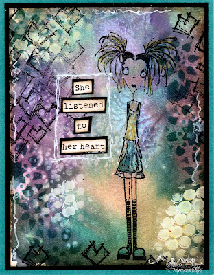 Mixed Media Card  - Stamps Stampotique