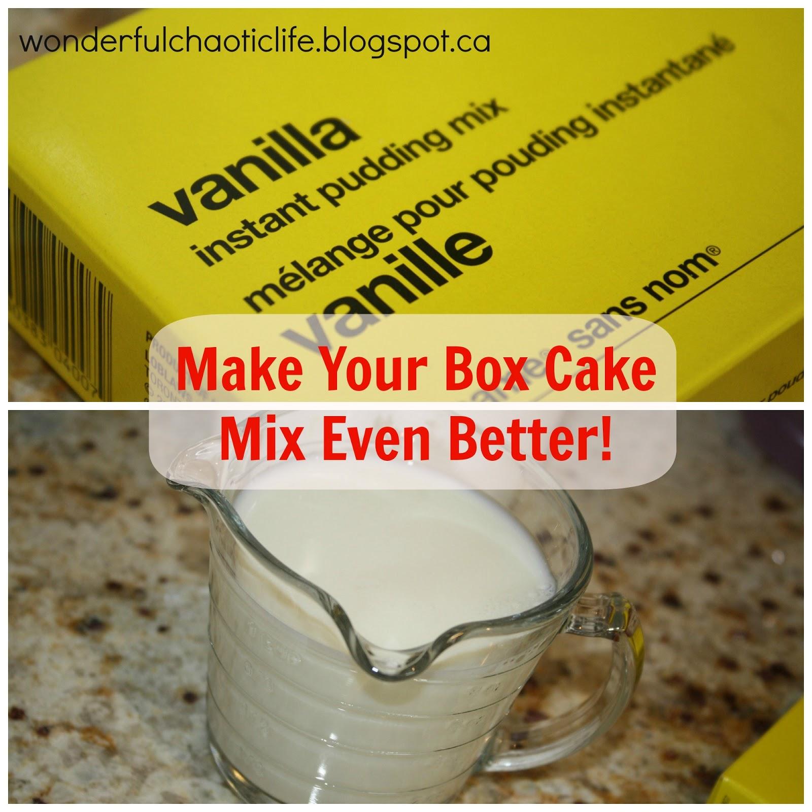 Add Pudding To Cake Mix To Make Moist