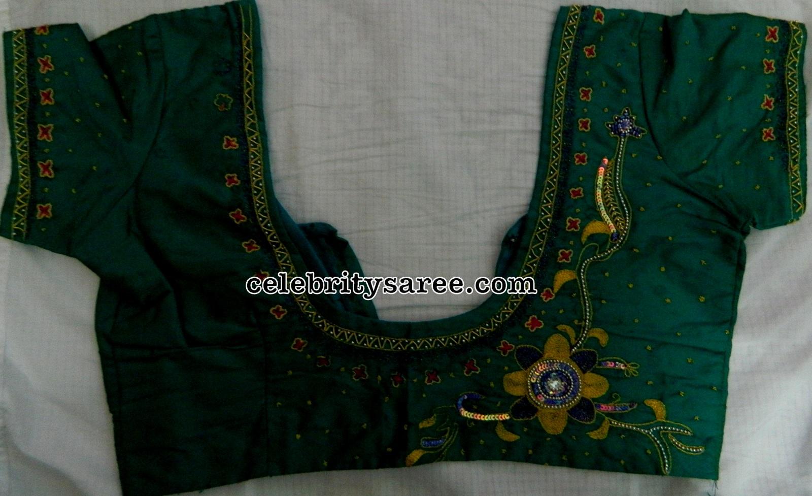 Simple Blouse Work Designs For Pattu Sarees