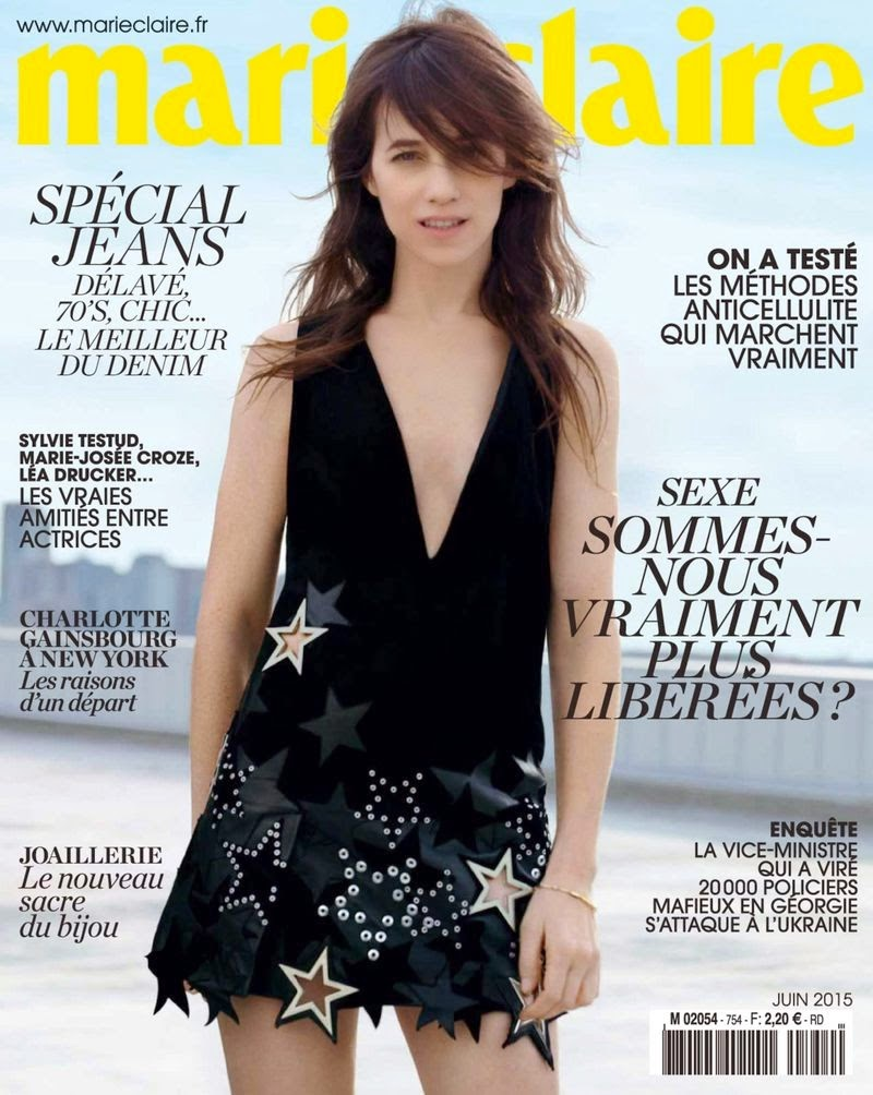Actress @ Charlotte Gainsbourg for Marie Claire France, June 2015