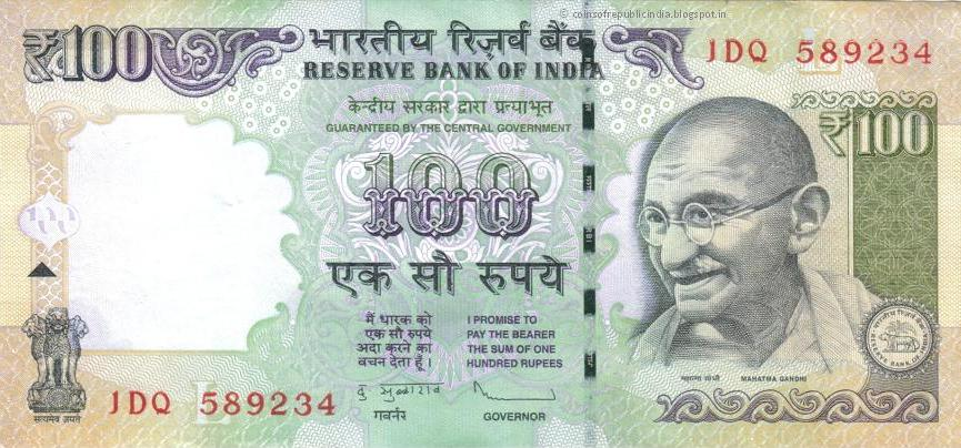 Republic India Coins Proof Set Currencies Hundred Rupee Note