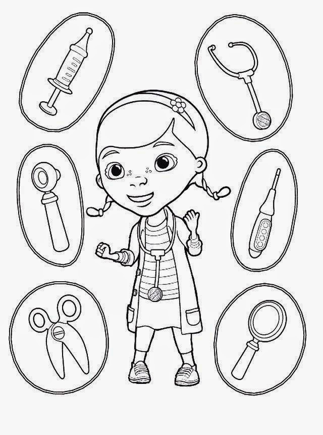 Coloring Pages   Doc Mcstuffins #4