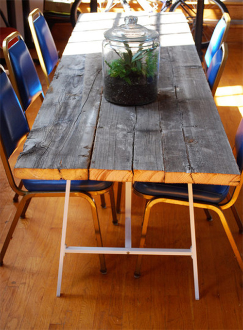 DIY Reclaimed Wood Dining Table Poppytalk