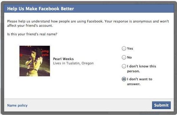 facebook identità amici