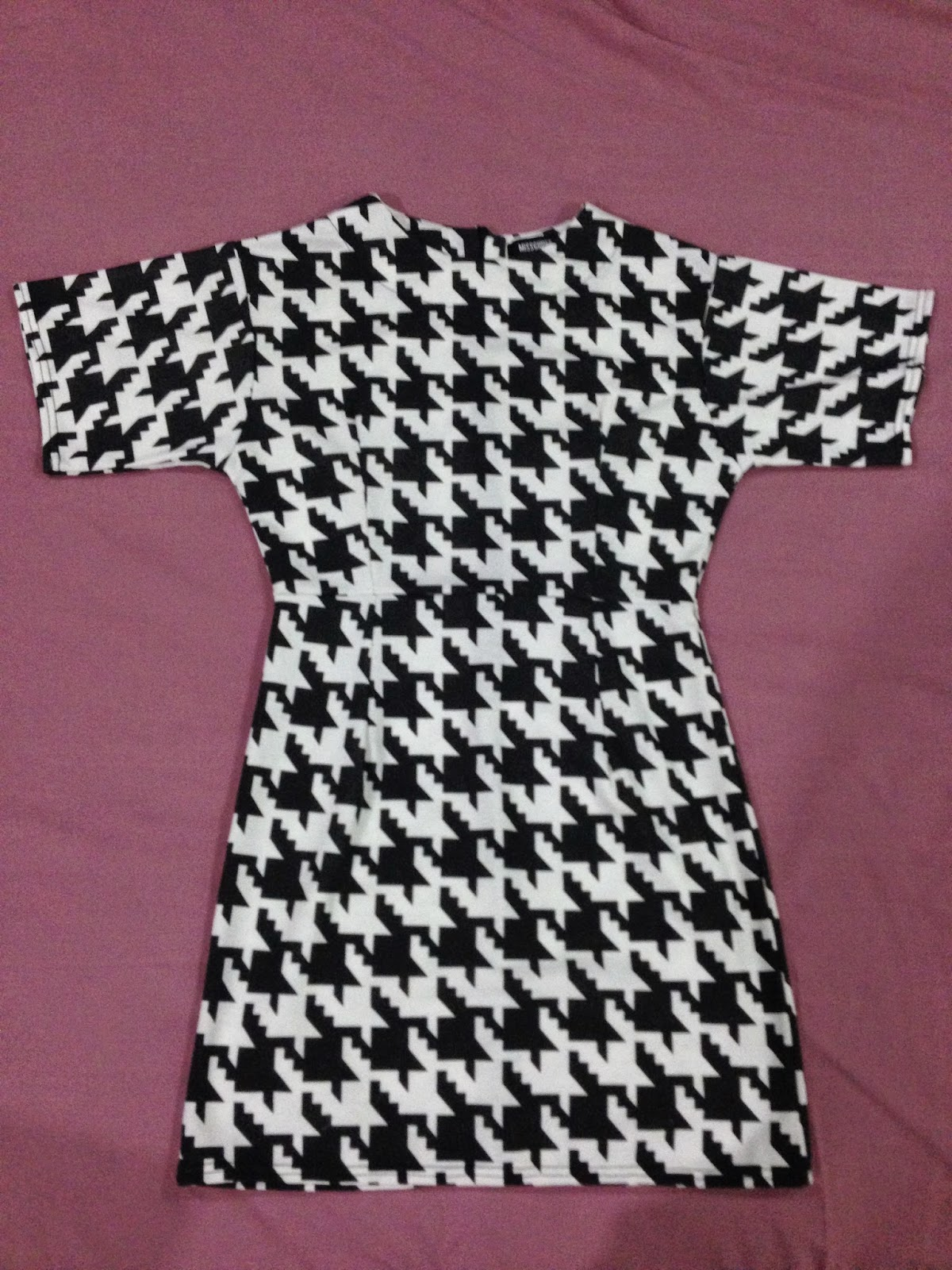 Missguided Houndstooth Print Dress