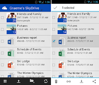 Microsoft SkyDrive now available on Android