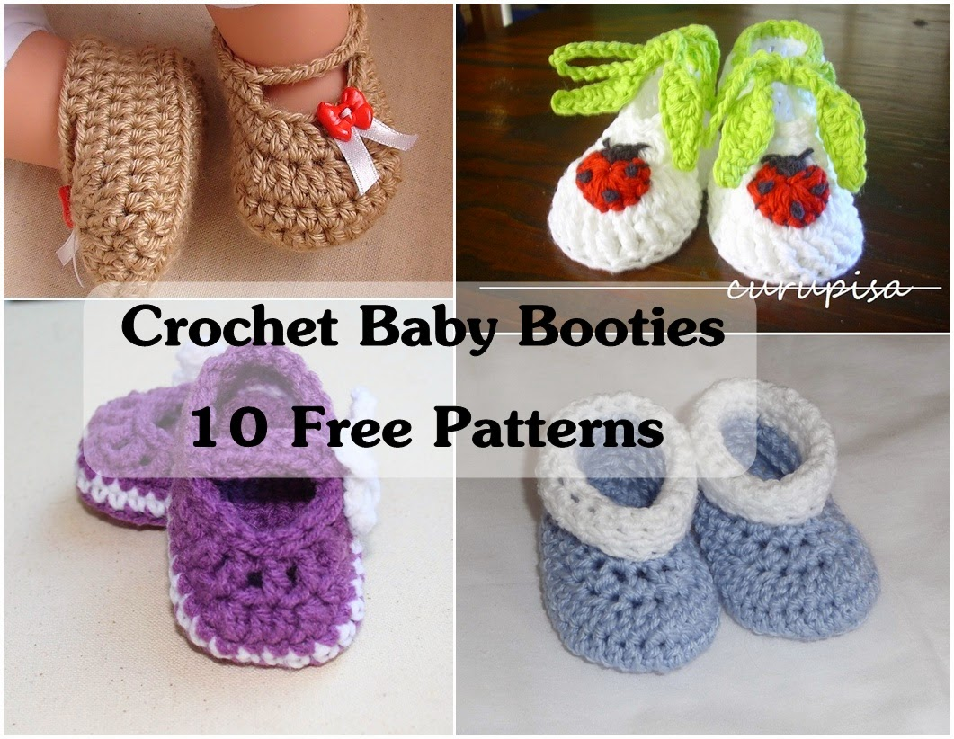 Crochet Baby Booties 10 Free Patterns