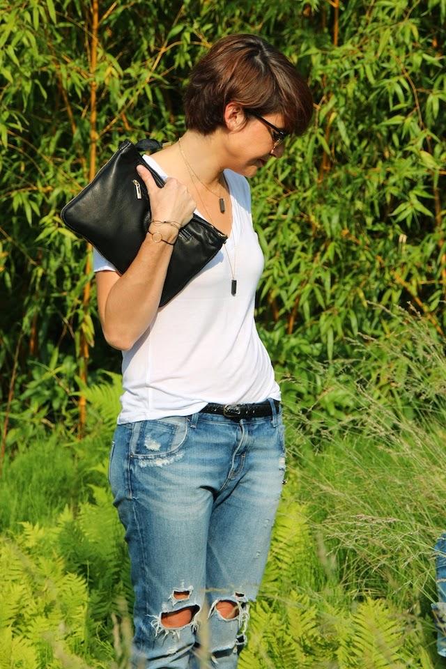 zara, pretty wire, léopard, juste juliette, rayban, clubmaster, blog mode lille, fashion blogger, blog mode, t-shirt blanc, jean boyfriend