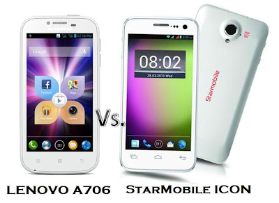 Lenovo A706 vs StarMobile ICON: The Battle of Quad Core powered ...
