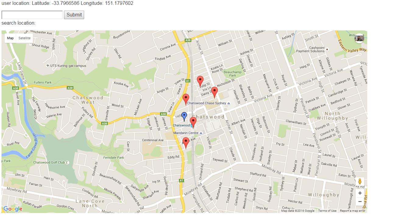 Azadeh Khojandi Showing Markers On Google Map V With Dynamic - Show google map using latitude and longitude javascript