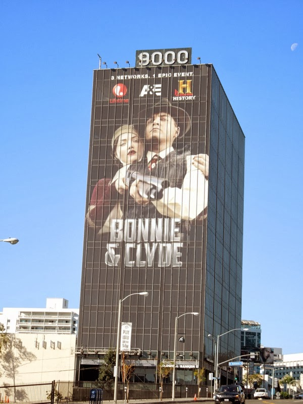 Giant Bonnie and Clyde billboard