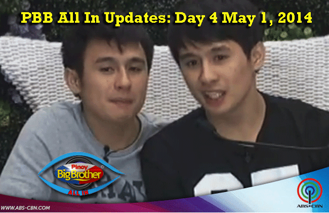 PBB All In Updates: Day 4 May 1, 2014 Fourth and Fifth Secret Task