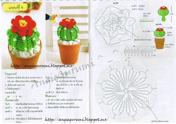Amigurumi DIY by AngieGurumi: Amigurumi, Cáctus diagramas Thai, Free ...