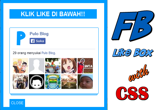 Facebook Like Box Pop-Up dengan CSS