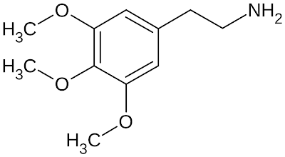 Structural formula of mescaline
