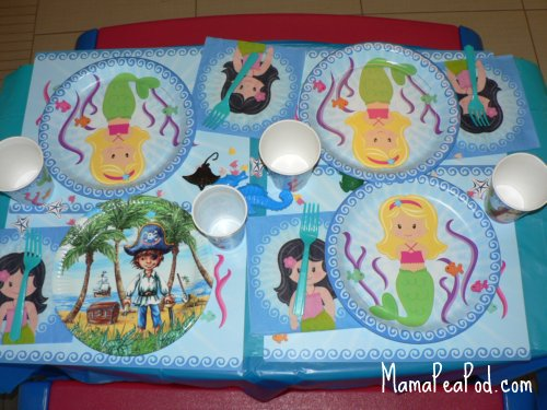 mermaid birthday party place settings