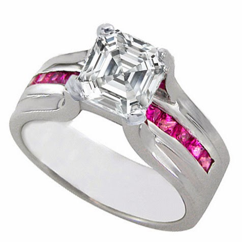 Pink Saphire Wedding Rings 028 - Pink Saphire Wedding Rings