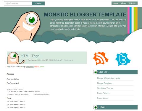 Monstic Blogger Theme