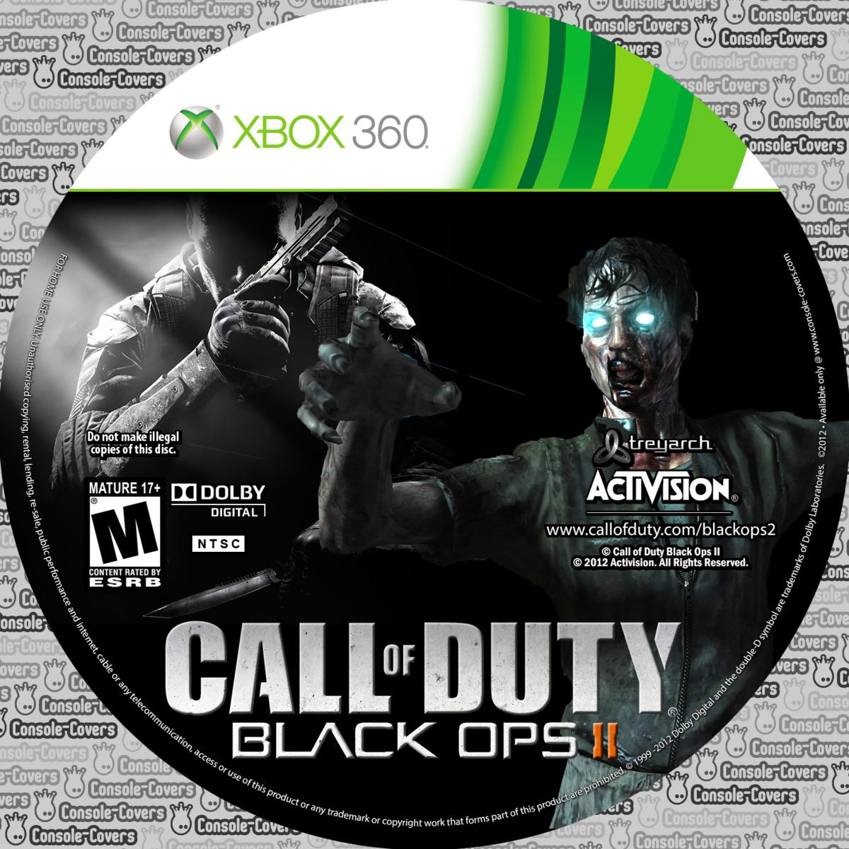 Label Call Of Duty Black Ops II Xbox 360