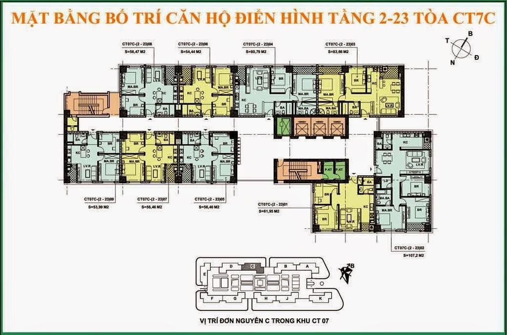 Thiết kế căn hộ Ct7C dương nội