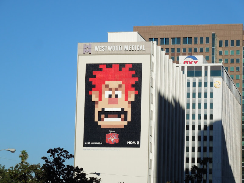 Giant Wreck-It Ralph movie billboard