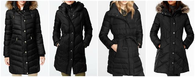 London Fog Faux-Fur-Trim Down Coat • London Fog • $119.99, DKNY Faux-Leather-Trim Quilted Down Coat • DKNY, MICHAEL Michael Kors Hooded Faux-Fur-Trim Down Puffer Coat, Burberry Brit 'Winterleigh' Belted Down Coat