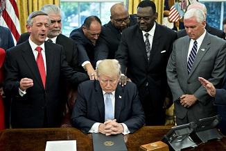 Diviziile creștine ale lui Trump