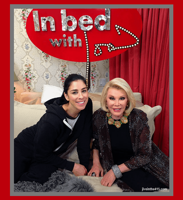 "Joan Rivers and Sarah Silverman from the new web series ""In Bed With Joan"" jiveinthe415.com"
