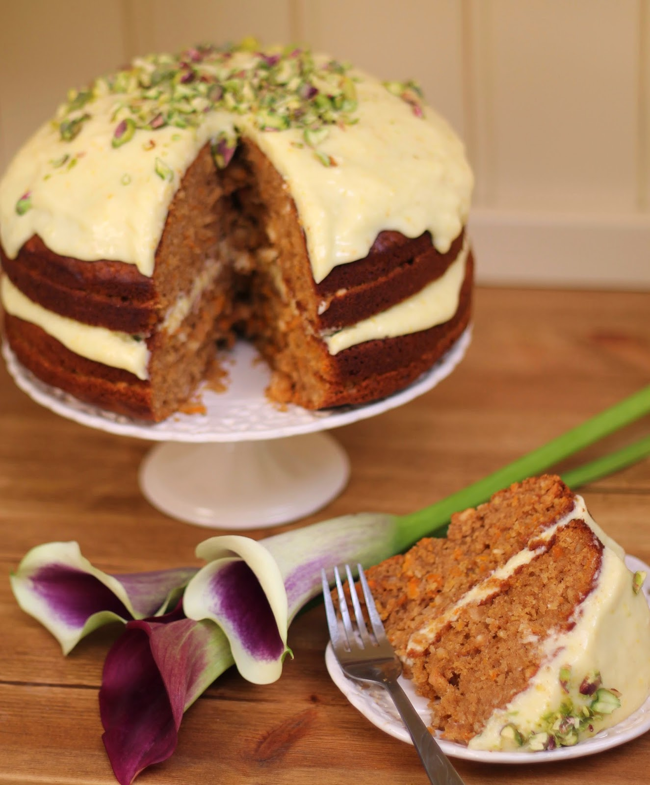 Dulce de leche carrot cake (with chocolate chunks)