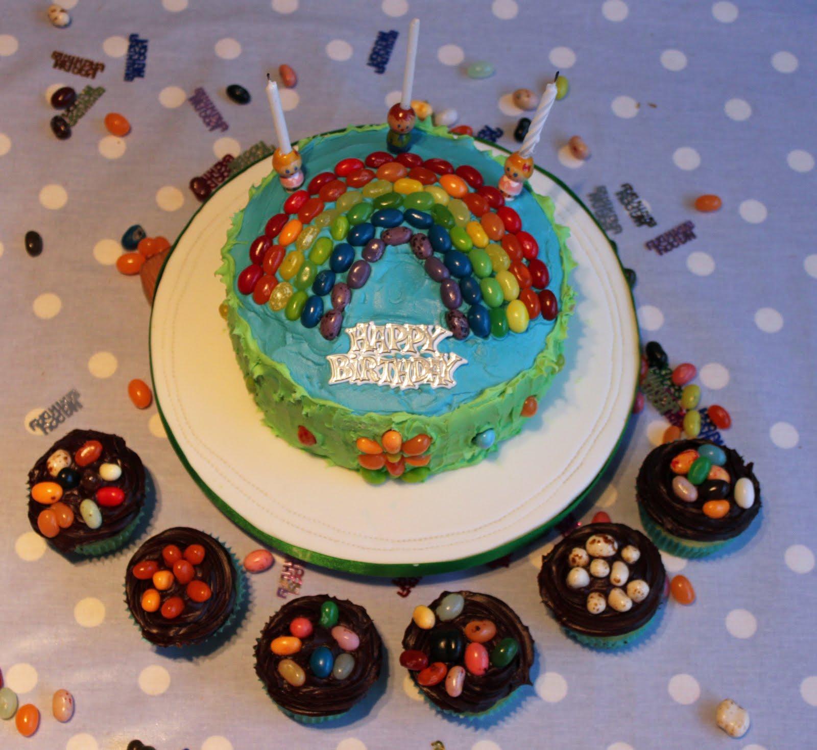 ... year I decided to make him a gluten free jelly bean birthday cake