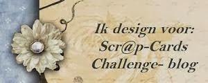 Trots om DT lid van het Scr@pcards Challenge-blog te zijn