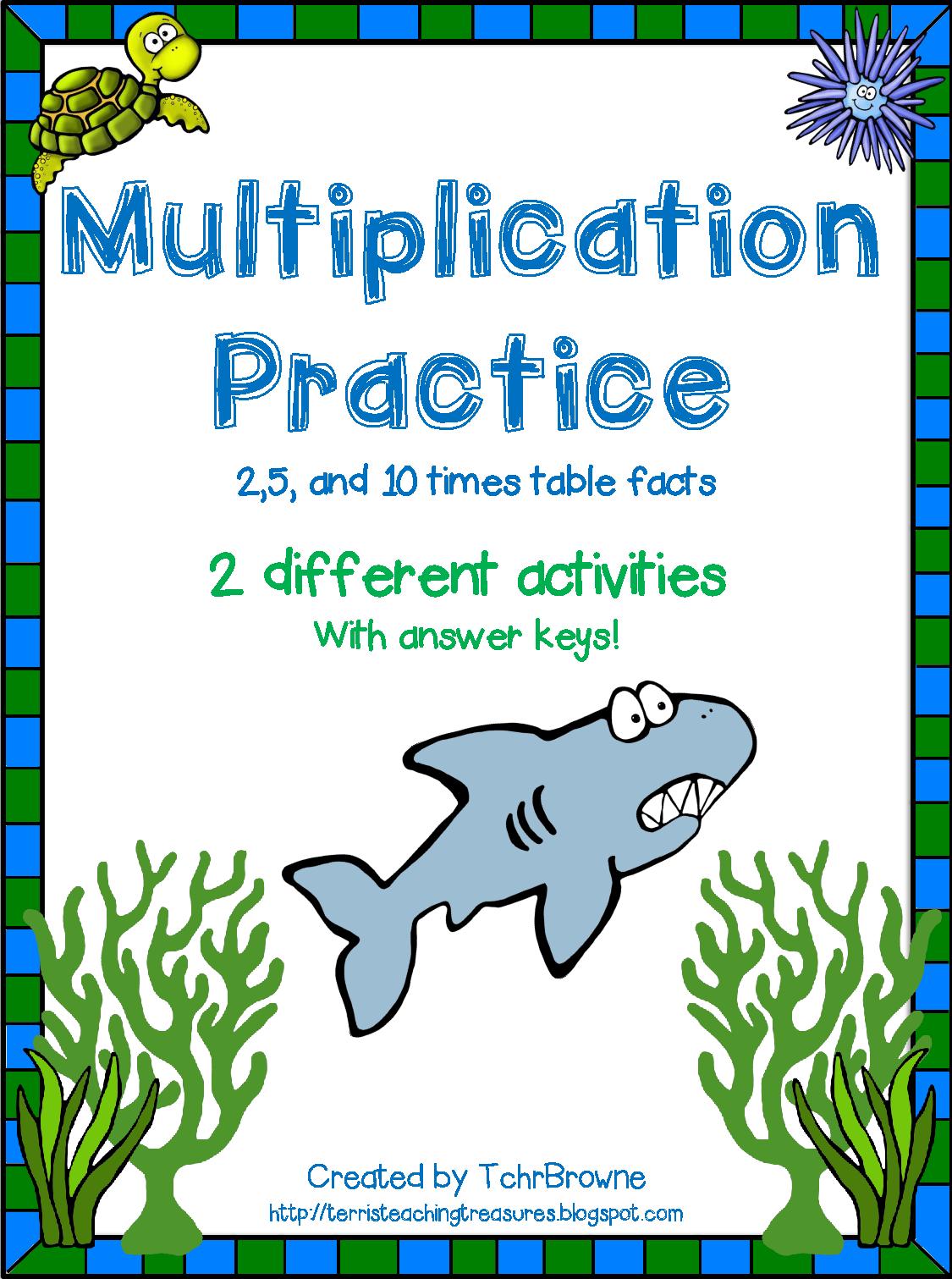 http://www.teacherspayteachers.com/Product/Multiplication-Practice-2510-times-tables-1335976