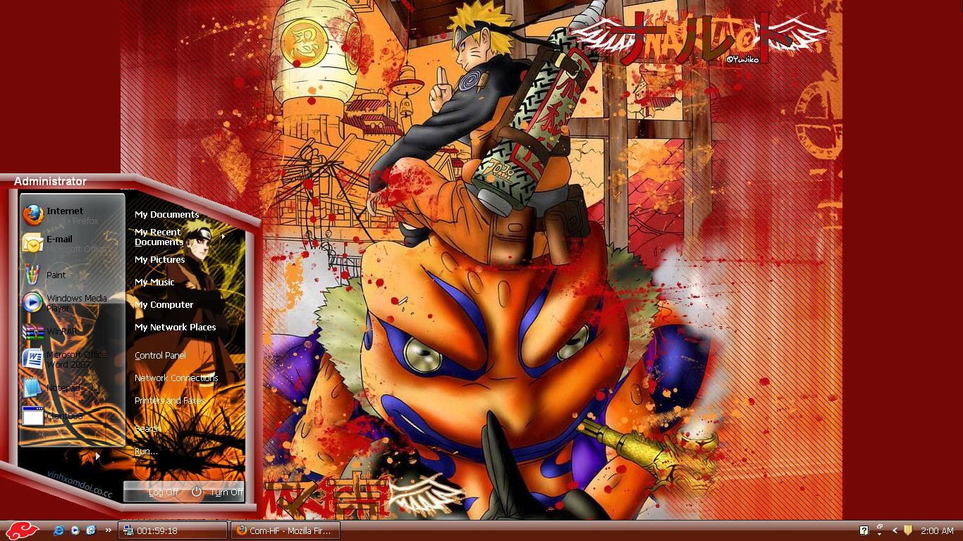 download naruto shippuden theme for xp com hf all