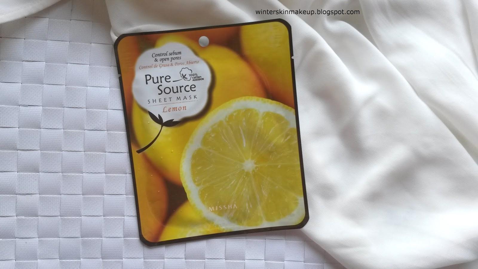 Missha Pure Source Mask Sheet Lemon
