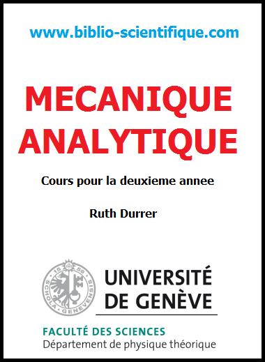 Cours de Mécanique Analytique - pour la deuxieme annee