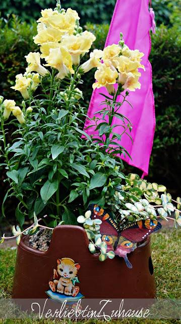 Im Retro-Style: Der bepflanzte Pipi Pott