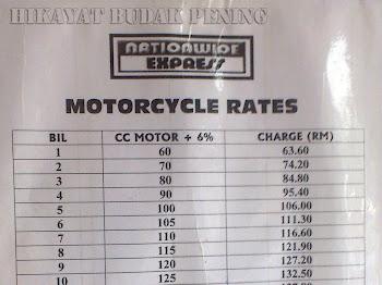 Nationwide Express | Penghantaran Motosikal
