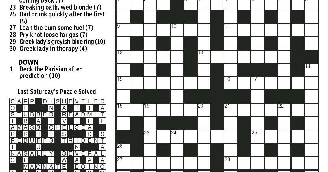 National Post Cryptic Crossword Forum: Saturday, November 21, 2015 ...
