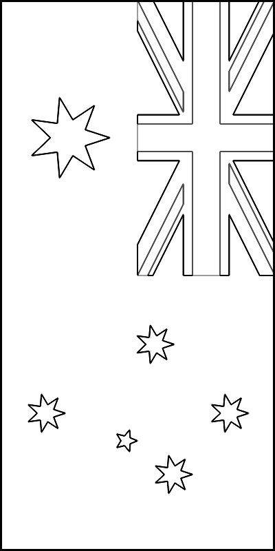 colorear bandera de Australia para imprimir
