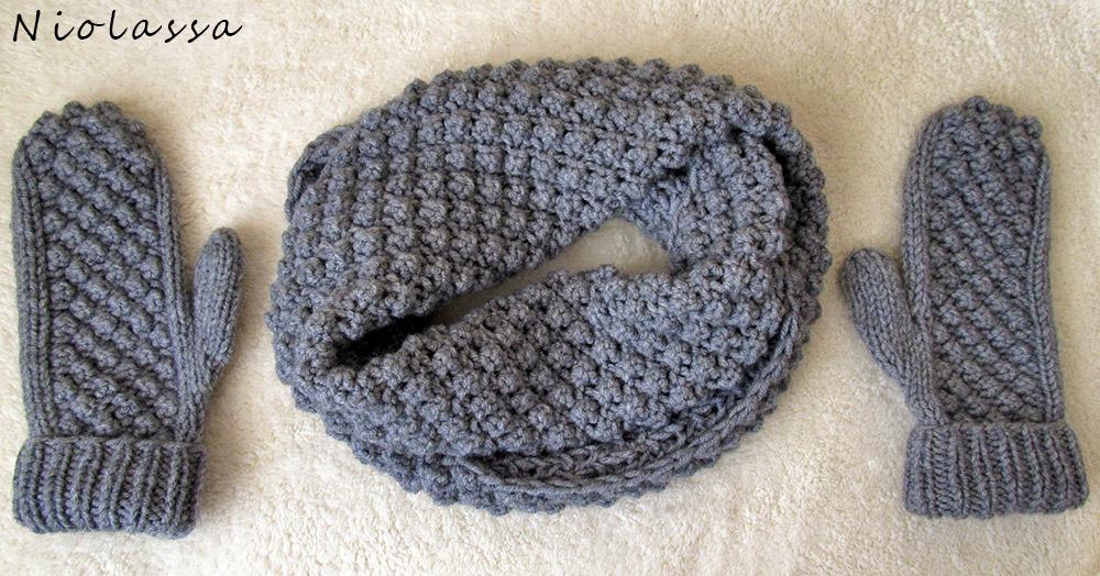 как связать простой шарф картинки