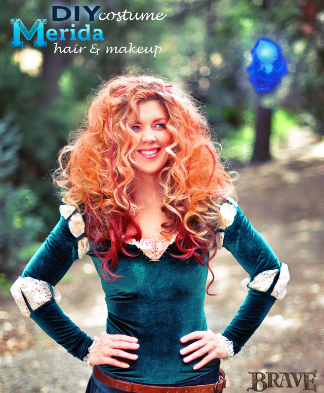 DIY Princess Merida of Brave hair and makeup tutorial costume