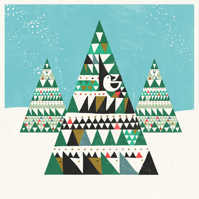 Scandinavian Illustration Style Scandinavian Style Cards